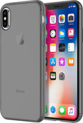 Smoked Soft Silicone Hybrid Back Cover Case for Apple iPhone X Transparent Black