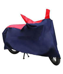 MotroX Universal Scooty/Bike Body Cover for Monsoon - Water-Resistant, Dustproof, UV Guard - For all Bikes Upto 150cc - Red & Navy Blue