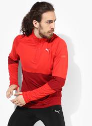 Run Halfzip Red Track Top