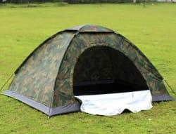 Ibs Army Waterproof Tent for Travel, Hiking & Camping- 2 people (Green & Black)