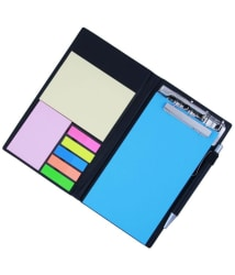 COI Memo Note Pad and Memo Note Book With Sticky Notes and Clip Holder In Diary Style - Blue