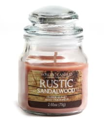 Hosley Brown Rustic Sandalwood Small Jar Candle