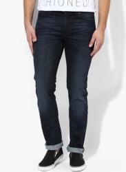 Blue Low Rise Slim Fit Jeans