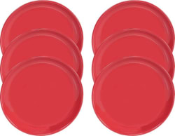 Servewell Red Plate Pack of 6