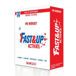Fast&Up Activate Arginine 1500 Mg Pre Workout Sports Drink - 220 g (Pack of 3)