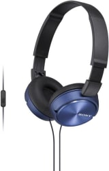 Sony MDR-ZX310AP Wired Headset with Mic (Blue, Over the Ear)