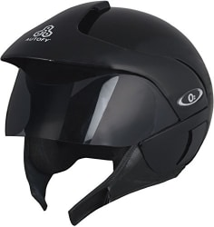 Autofy O2 Full Close Helmet (Black and Blue, M)