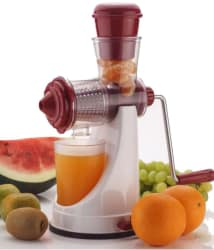 Fruit & Vegetable Manual Juicer-Maroon & White