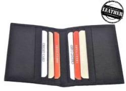 Genuine Leather ATM Debit Credit Card holder - Black