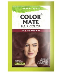 COLOR MATE Powder Hair Color Burgundy 15gm- Pack of 5