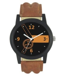 Newmen Brown Styles Leather Analog Watch For Boys