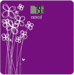 Venus Digital Glass Weighing Scale (Purple)