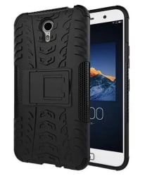 YGS Tough Rugged Dual Layer Back Case Kickstand for Lenovo ZUK Z1-Black