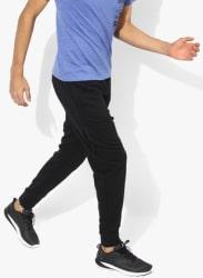 Zipped Jogger Black Track Pants