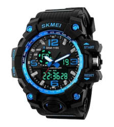 Skmei Blue dial Analog Digital Watch