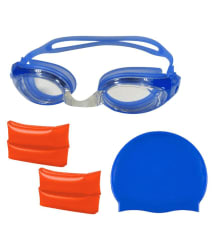 Gold Dust Swimming Goggles, Silicone Cap with 2 ArmBands