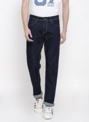 Blue Mid Rise Regular Fit Jeans