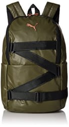 Puma 19 Ltrs Olive Night Puma Black Laptop Backpack (7482101)