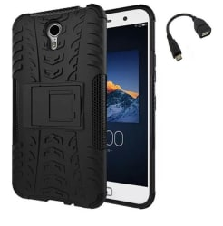 YGS Tough Rugged Dual Layer Back Case Kickstand for Lenovo ZUK Z1-Black With Micro OTG