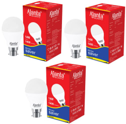 Ajanta Quartz 14W LED Bulbs Cool Day Light - Pack of 3