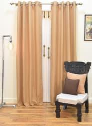 Cotton Beige Curtain