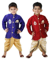 Stylokids Multicolor Cotton Dhoti Kurtas - Pack of 2
