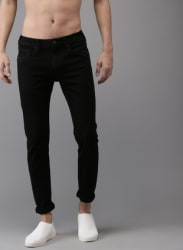 Black Mid Rise Skinny Fit Jeans