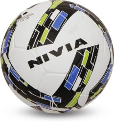 Nivia Storm Revolution Football - Size: 5 Pack of 1, White, Green