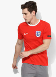England Football Red Round Neck T-Shirt