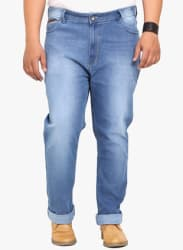 Light Blue Low Rise Regular Fit Jeans