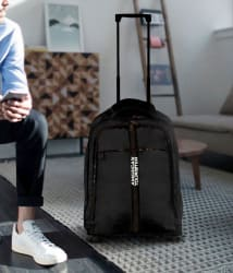 American Tourister Black Laptop Overnighter