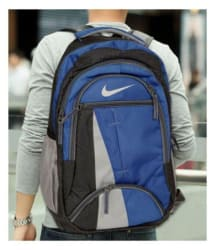 Nike Branded Navy Blue Polyester College Bags Backpacks- 25 Ltrs