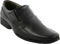 Pureits Leathers Genuine Slip On Shoes For Men Black