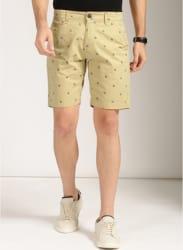 Khaki Printed Shorts