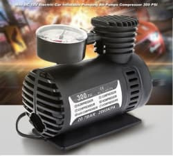 ProEnergy Portable Mini DC 12V Air Pump Compressor- 300PSI Electric Car Bike Tyre Inflator