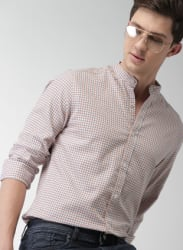 Off White Checked Casual Shirt