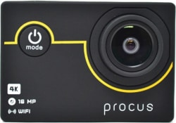 PROCUS Rush 4K Full Pack Sports and Action Camera Black, 16 MP