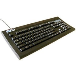 TVS-e Bharat Gold Wired UBS Keyboard Excellent Touch Soft Key Desktop, Computer Key board