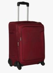 Maroon Cabin 4 Wheel Soft Luggage Strolley