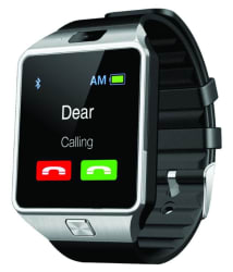 JM Black PU Analog-Digital Smart Watch