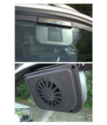 Solar Powered Ventilation Exhaust Fan for Car Window with Air Vent -Circulates hot air Out- No battery needed