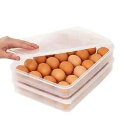 24pc Clear Plastic Egg Container Dispenser