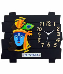 Ravishing Lord Krishna Design Rectangular Analog Wall Clock