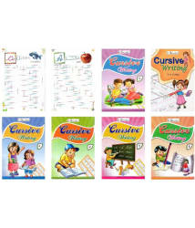 Inikao English Cursive Writing Practise Books Set of 7