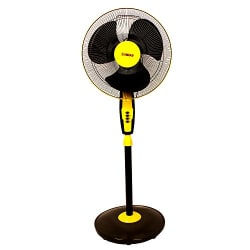 MINAR Air Marshal MR_PF_BY_001 2000 RPM Pedestal Fan (Black and Yellow)