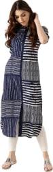 Libas Striped Women s Pathani Kurta (Blue)