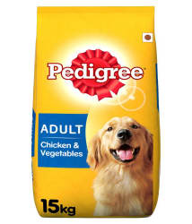 Pedigree Dry Dog Food, Chicken & Vegetables for Adult Dogs, 15 kg