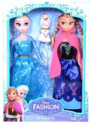 Emob 2 Cute Fashionable Snow Princess Dolls Play Set with Snowman for Kids