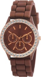 VB ENTERPRISE DESIGNER SUPER BROWN ANALOG WATCH
