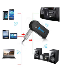 Car Aux Bluetooth Receiver (3.5 mm Pin) - Pair with Music System, Home Theater System, Computer. Compatible with All Android & IOS Devices Dongle Connector Adapter Audio Transmitter Wireless TV Pen Drive Jack